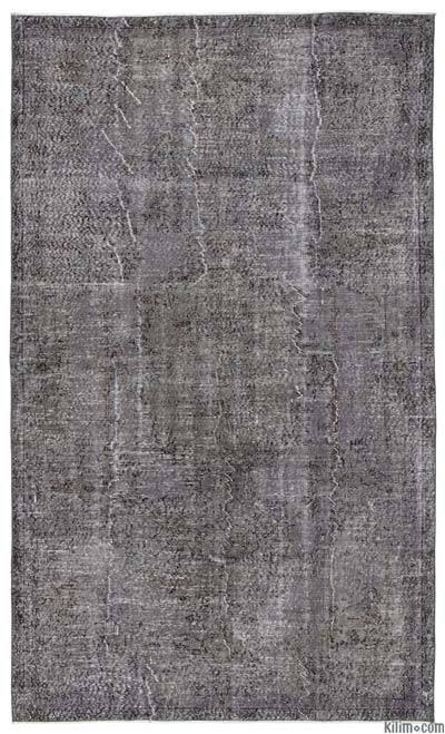Boyalı El Dokuma Vintage Halı - 174 cm x 292 cm
