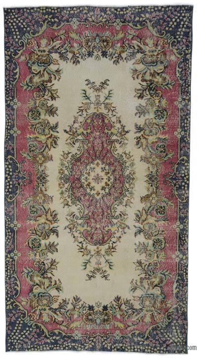 """Turkish Vintage Area Rug - 5'5"""" x 10'3"""" (65 in. x 123 in.)"""