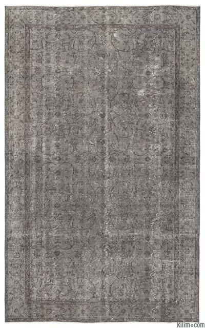 "Over-dyed Turkish Vintage Rug - 5'10"" x 9'6"" (70 in. x 114 in.)"
