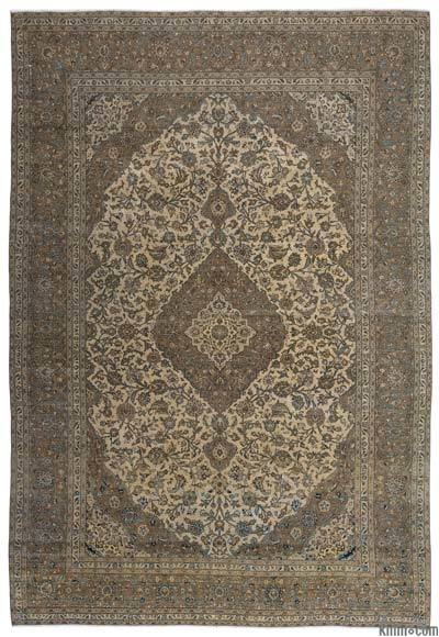 """Vintage Hand-knotted Oriental Rug - 9'3"""" x 13'6"""" (111 in. x 162 in.)"""