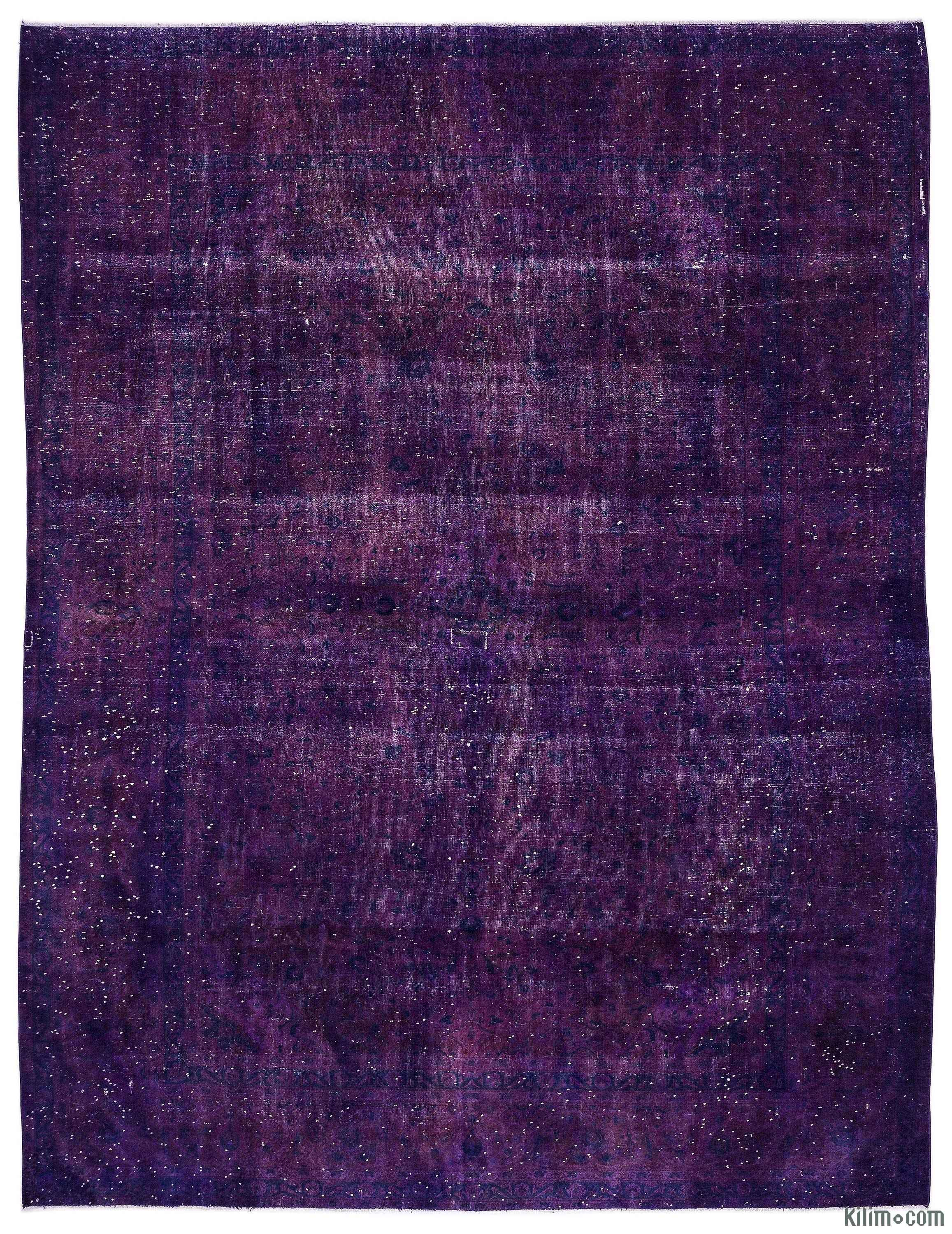 K0013222 Purple Over Dyed Vintage Hand Knotted Oriental Rug 9 6 X 12 6 114 In X 150 In The Source For Hand Knotted Vintage Rugs Hand Woven Kilim Rugs Wool Turkish Rugs Overdyed Persian Rugs