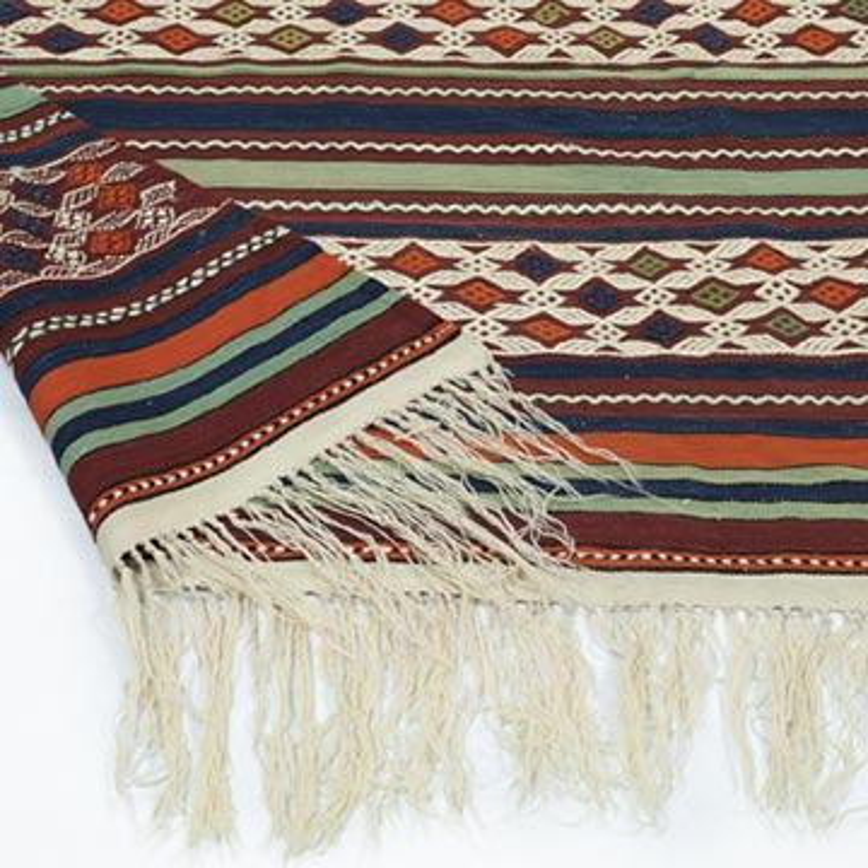 """Multicolor Antique Manisa Kilim - 4' 10"""" x 8' 9"""" (58 in. x 105 in.) - K0013271"""