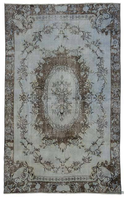 "Grey Over-dyed Turkish Vintage Rug - 5' 7"" x 9' 3"" (67 in. x 111 in.)"