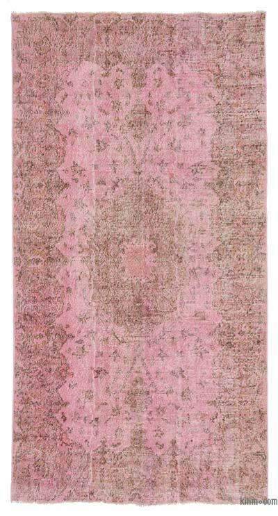 "Over-dyed Turkish Vintage Rug - 5' 3"" x 9' 11"" (63 in. x 119 in.)"