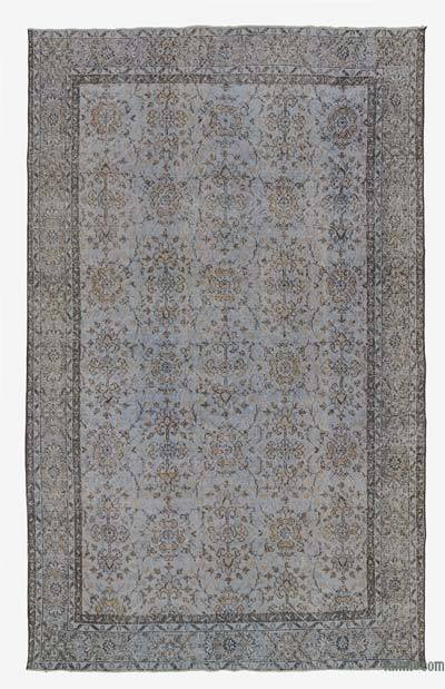 "Blue Over-dyed Turkish Vintage Rug - 6' 3"" x 9' 10"" (75 in. x 118 in.)"