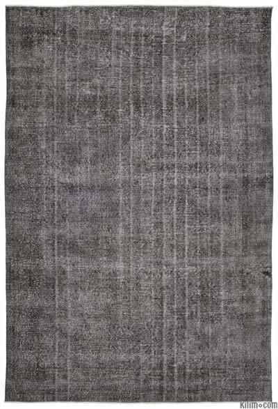 Boyalı El Dokuma Vintage Halı - 216 cm x 316 cm