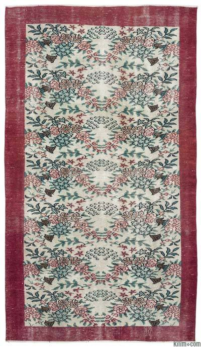 """Turkish Vintage Area Rug - 4'8"""" x 8'2"""" (56 in. x 98 in.)"""