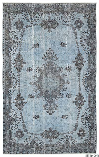 """Over-dyed Turkish Vintage Rug - 5'9"""" x 9'3"""" (69 in. x 111 in.)"""