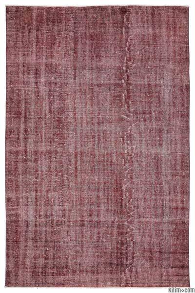 Boyalı El Dokuma Vintage Halı - 194 cm x 297 cm