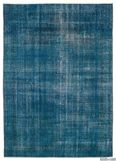 "Over-dyed Turkish Vintage Rug - 6'6"" x 9'1"" (78 in. x 109 in.)"