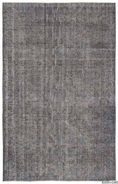 """Over-dyed Turkish Vintage Rug - 6' x 9'8"""" (72 in. x 116 in.)"""