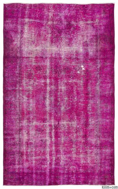 """Over-dyed Turkish Vintage Rug - 5'10"""" x 9'10"""" (70 in. x 118 in.)"""