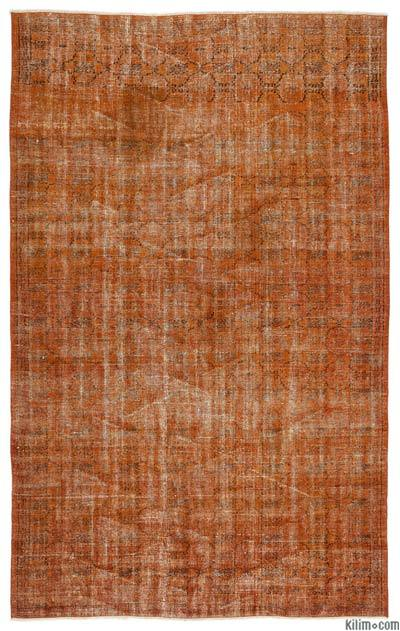 Over-dyed Turkish Vintage Rug - 6' x 10' (72 in. x 120 in.)