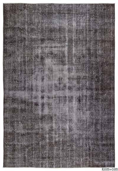 Boyalı El Dokuma Vintage Halı - 207 cm x 301 cm