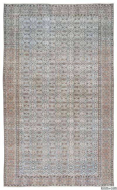 "Turkish Vintage Area Rug - 5' 2"" x 8' 9"" (62 in. x 105 in.)"