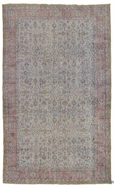 "Turkish Vintage Area Rug - 5'7"" x 9'8"" (67 in. x 116 in.)"