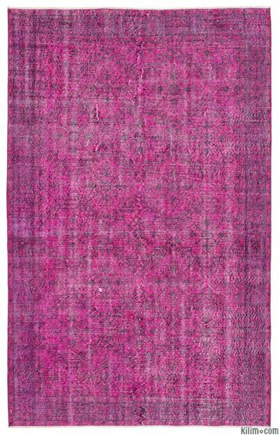 """Over-dyed Turkish Vintage Rug - 6'2"""" x 9'10"""" (74 in. x 118 in.)"""