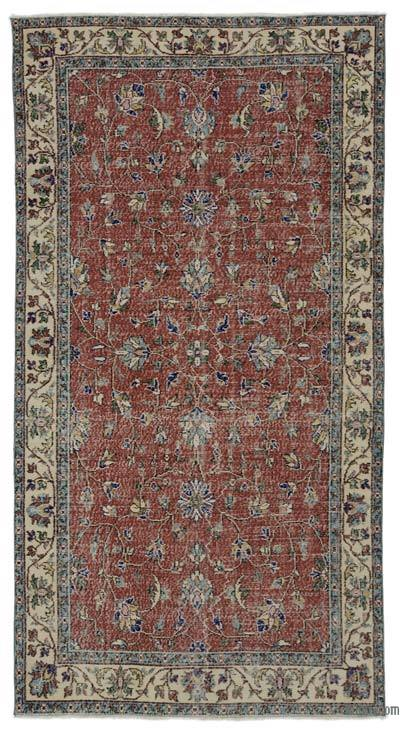 """Turkish Vintage Area Rug - 4' 10"""" x 9' 1"""" (58 in. x 109 in.)"""