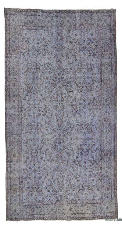 """Over-dyed Turkish Vintage Rug - 5'3"""" x 9'10"""" (63 in. x 118 in.)"""
