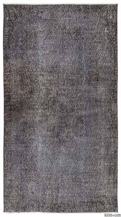 Boyalı El Dokuma Vintage Halı - 116 cm x 212 cm