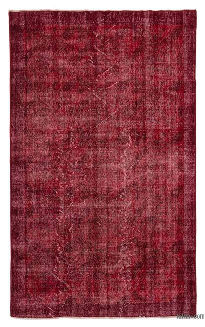 """Over-dyed Turkish Vintage Rug - 4' 10"""" x 7' 10"""" (58 in. x 94 in.)"""