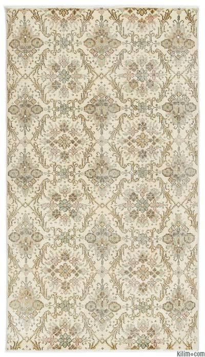 """Turkish Vintage Area Rug - 3'10"""" x 6'11"""" (46 in. x 83 in.)"""