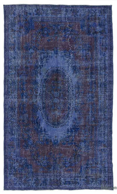 """Blue Over-dyed Turkish Vintage Rug - 5' 11"""" x 9' 10"""" (71 in. x 118 in.)"""
