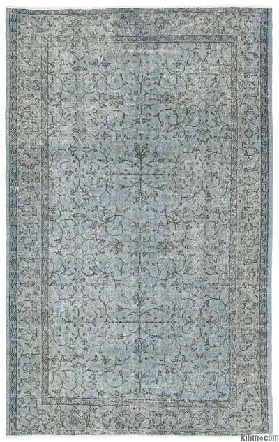 "Over-dyed Turkish Vintage Rug - 5'2"" x 8'3"" (62 in. x 99 in.)"