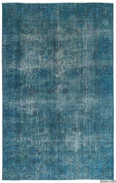 Boyalı El Dokuma Vintage Halı - 206 cm x 325 cm