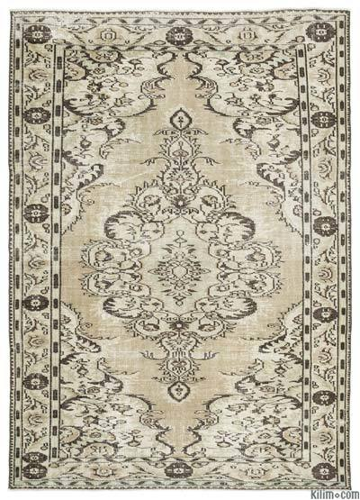 "Over-dyed Turkish Vintage Rug - 6'3"" x 8'9"" (75 in. x 105 in.)"