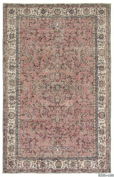 "Turkish Vintage Area Rug - 6' 7"" x 10' 2"" (79 in. x 122 in.)"
