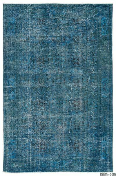 Boyalı El Dokuma Vintage Halı - 190 cm x 297 cm