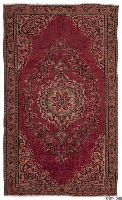 """Turkish Vintage Area Rug - 5'3"""" x 8'8"""" (63 in. x 104 in.)"""