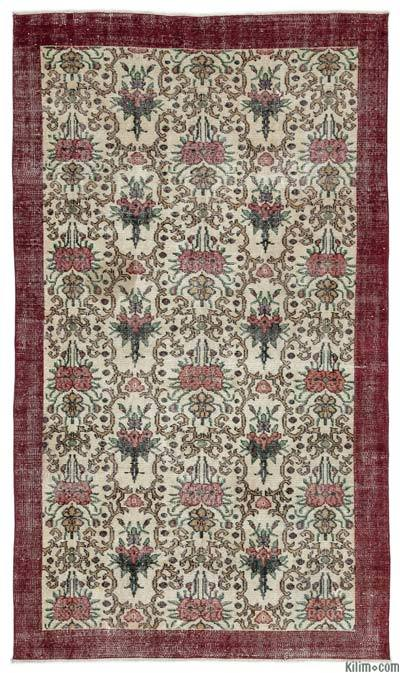 """Turkish Vintage Area Rug - 4'11"""" x 8'2"""" (59 in. x 98 in.)"""