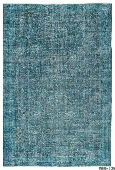 "Over-dyed Turkish Vintage Rug - 6'9"" x 10'3"" (81 in. x 123 in.)"