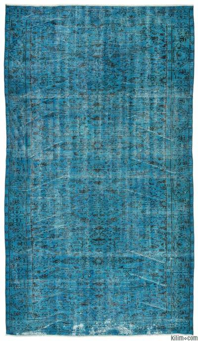 """Over-dyed Turkish Vintage Rug - 5'7"""" x 10' (67 in. x 120 in.)"""
