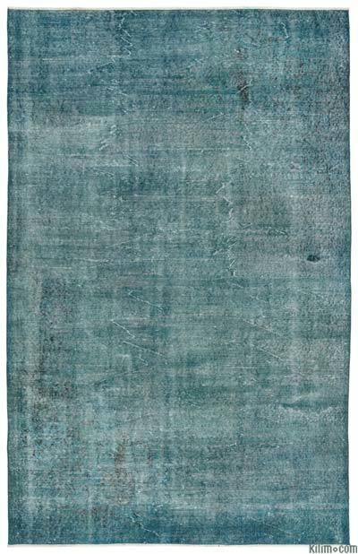Boyalı El Dokuma Vintage Halı - 179 cm x 278 cm