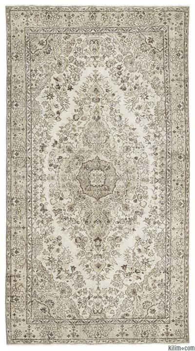 "Over-dyed Turkish Vintage Rug - 5'6"" x 10'1"" (66 in. x 121 in.)"