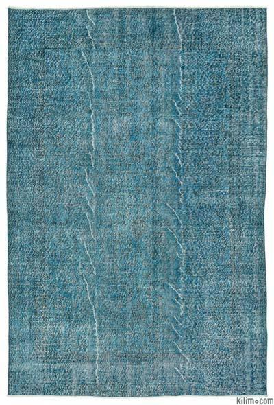 Alfombra Turca Vintage Sobre-teñida - 190 cm x 285 cm