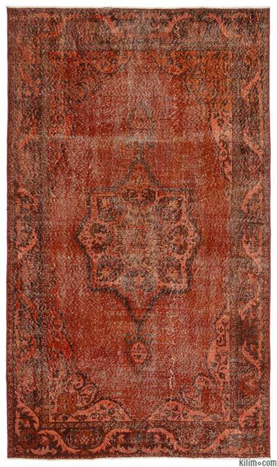 """Over-dyed Turkish Vintage Rug - 5'4"""" x 9'1"""" (64 in. x 109 in.)"""