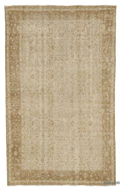 "Over-dyed Turkish Vintage Rug - 5' 5"" x 9'  (65 in. x 108 in.)"