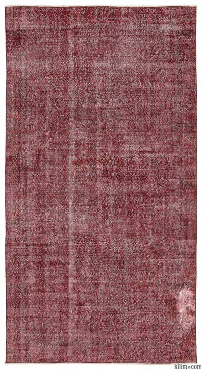 "Over-dyed Turkish Vintage Rug - 5'1"" x 9'4"" (61 in. x 112 in.)"
