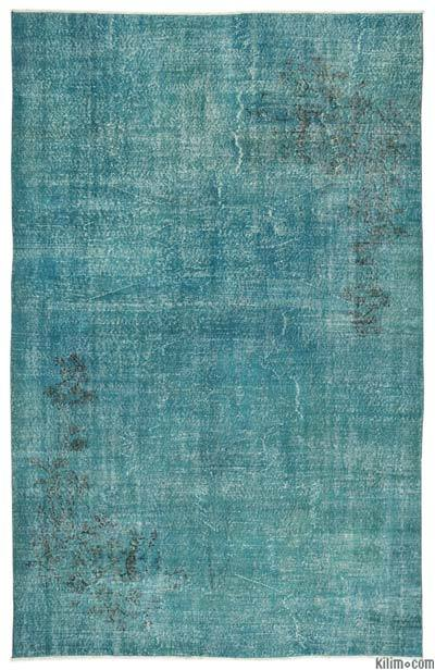"""Over-dyed Turkish Vintage Rug - 6'7"""" x 10'4"""" (79 in. x 124 in.)"""