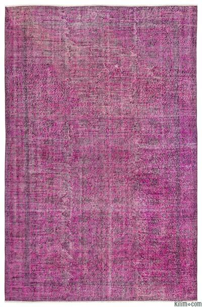 "Over-dyed Turkish Vintage Rug - 5'7"" x 8'6"" (67 in. x 102 in.)"