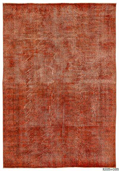 "Over-dyed Turkish Vintage Rug - 6'6"" x 9'4"" (78 in. x 112 in.)"