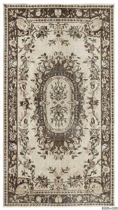 El Dokuma Vintage Halı - 115 cm x 207 cm