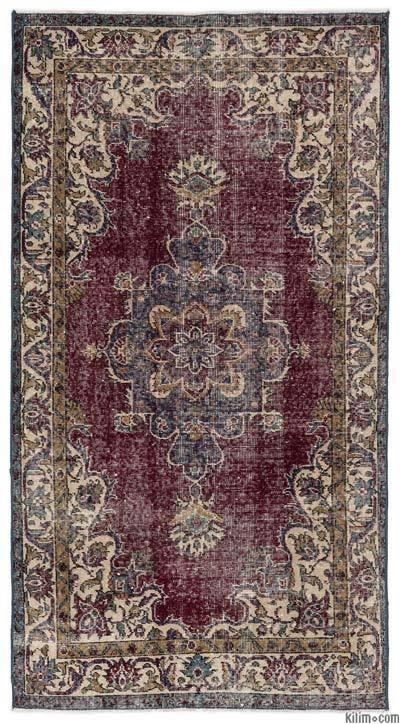 El Dokuma Vintage Halı - 112 cm x 208 cm