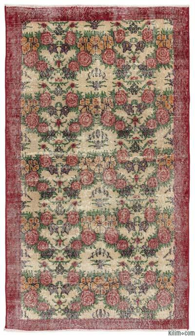 """Turkish Vintage Area Rug - 3'8"""" x 6'5"""" (44 in. x 77 in.)"""