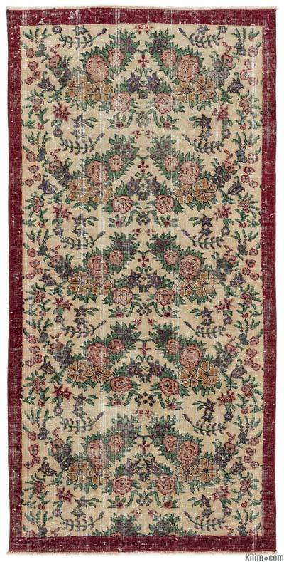 "Turkish Vintage Area Rug - 3'6"" x 7'2"" (42 in. x 86 in.)"