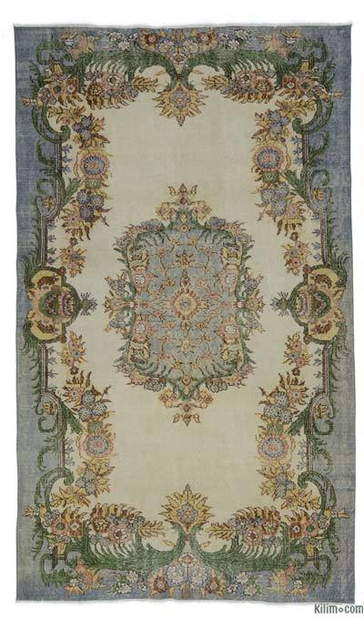 "Turkish Vintage Area Rug - 5'8"" x 9'8"" (68 in. x 116 in.)"
